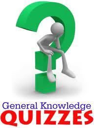 General Knowledge multiple choice quiz list